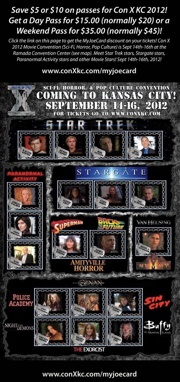 MyJoeCard Sponsor - Con X KC 2012