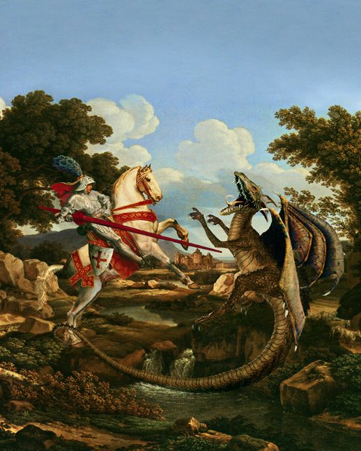 St. George slaying the dragon. A third look.