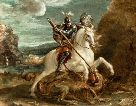 St. George slaying the dragon. Another look.
